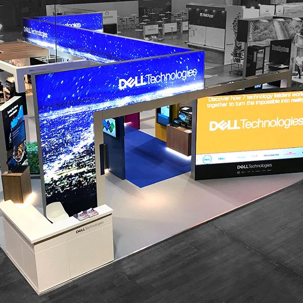 Delafair Messebau - Stand Dell Technologies