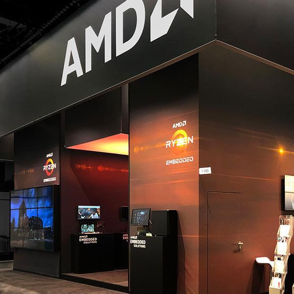 Delafair Messebau - Messestand von AMD